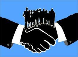 Poignée de main collaborative